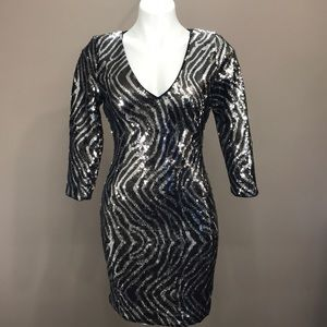 GUESS Sequin Bodycon Dress Size 6